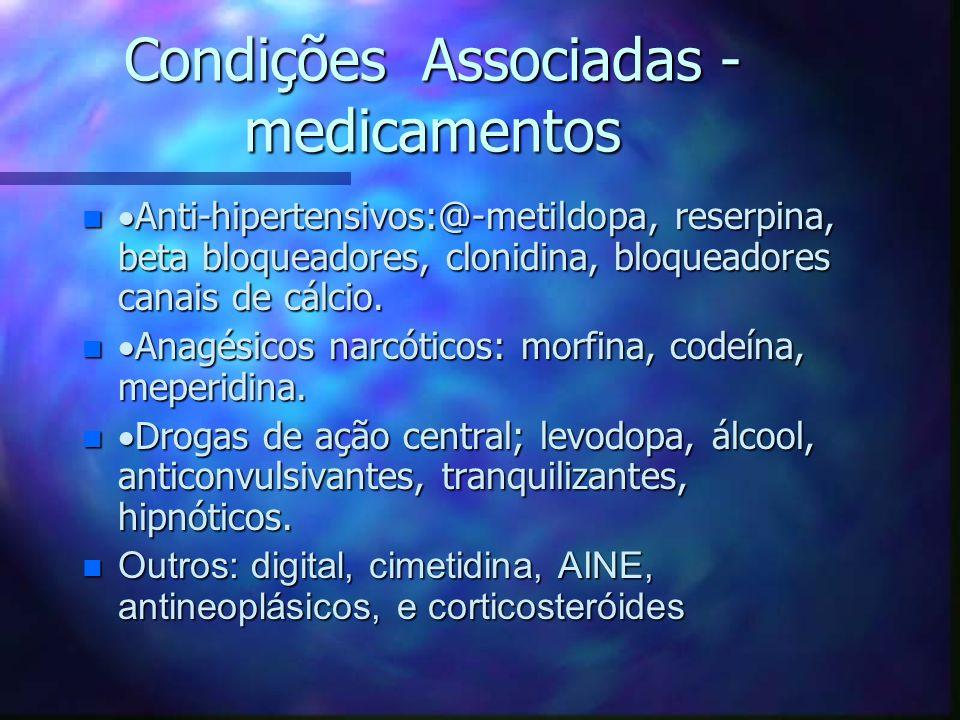 Condições Associadas - medicamentos