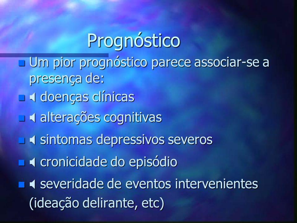 Prognóstico Um pior prognóstico parece associar-se a presença de: