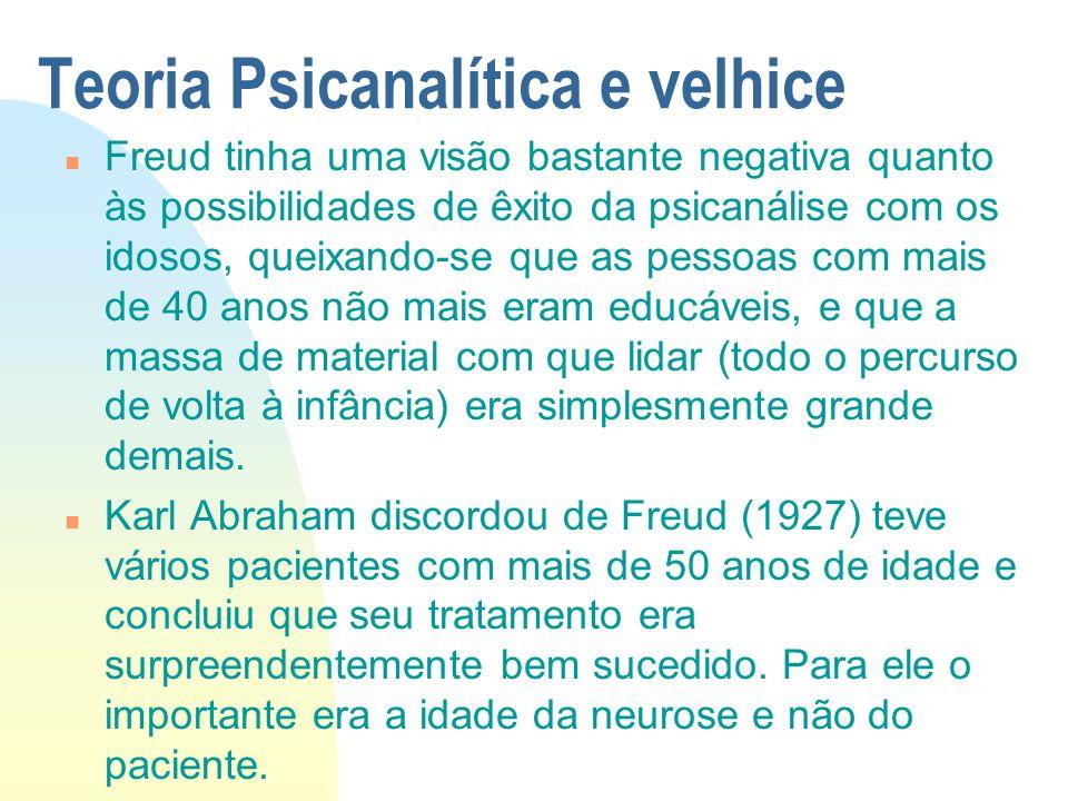 Teoria Psicanalítica e velhice
