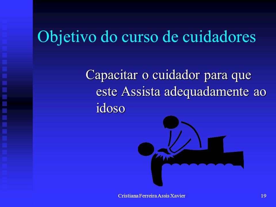 Objetivo do curso de cuidadores