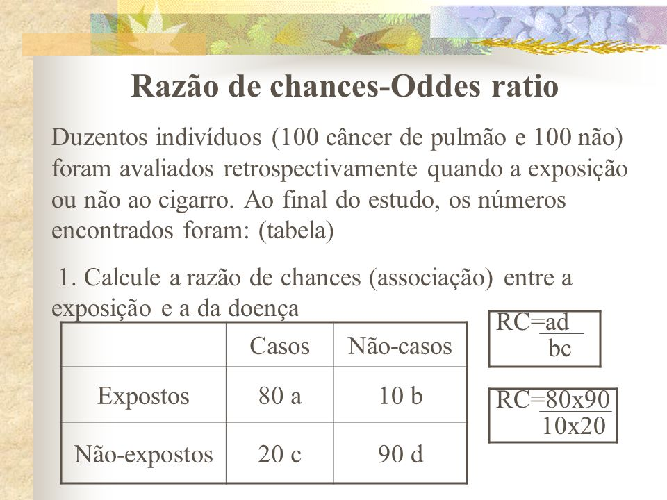 Razão de chances-Oddes ratio