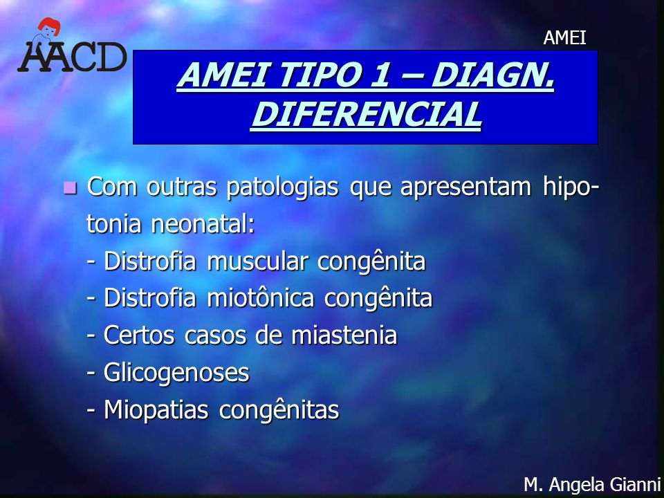 AMEI TIPO 1 – DIAGN. DIFERENCIAL