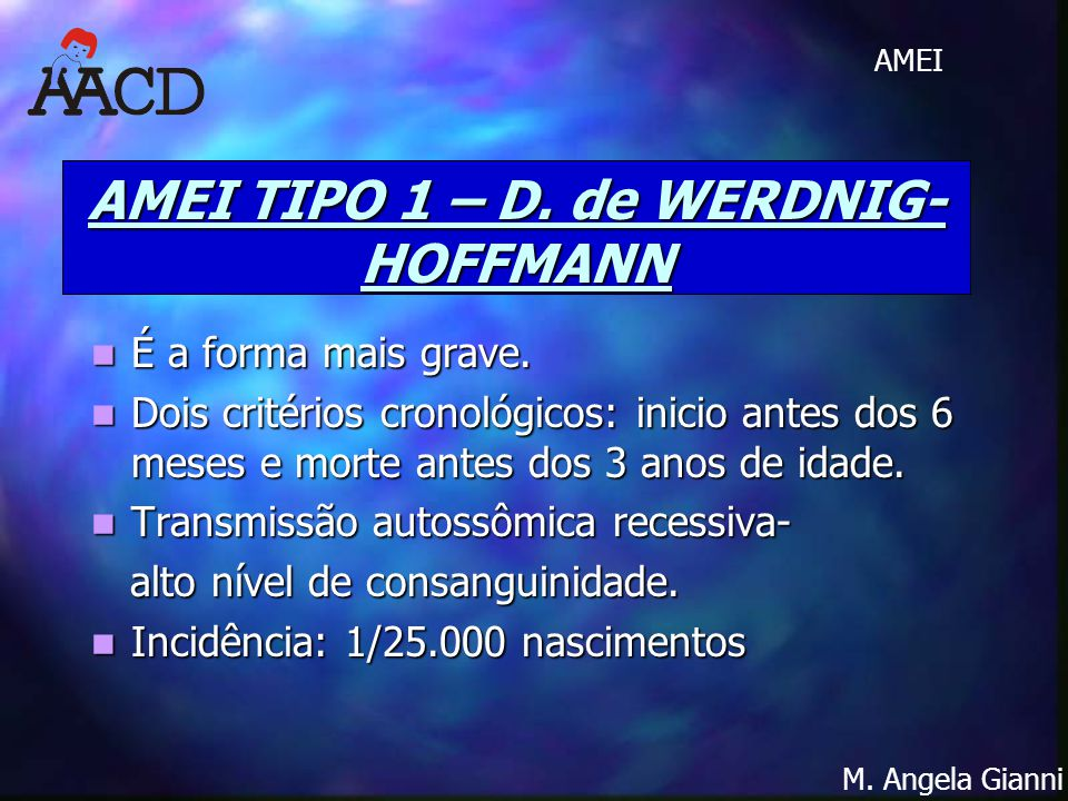 AMEI TIPO 1 – D. de WERDNIG-HOFFMANN