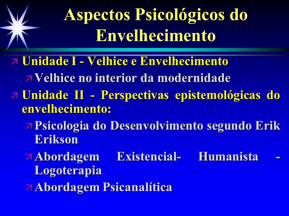 Aspectos Psicológicos do Envelhecimento