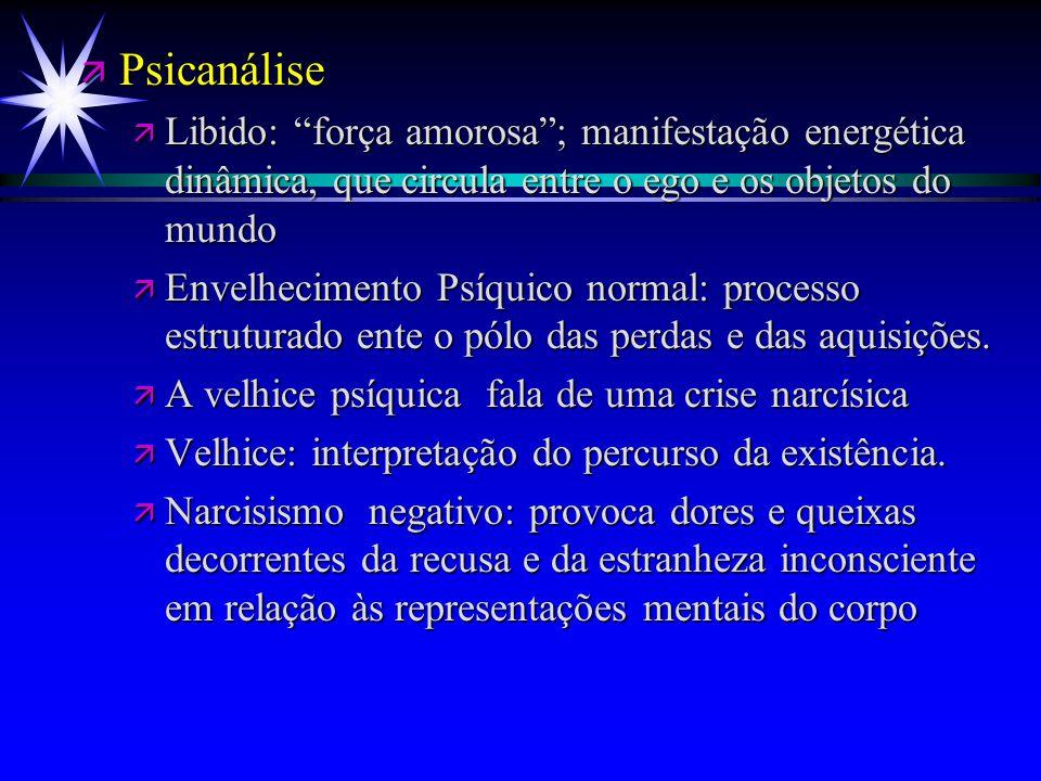 Psicanálise Libido: força amorosa ; manifestação energética dinâmica, que circula entre o ego e os objetos do mundo.
