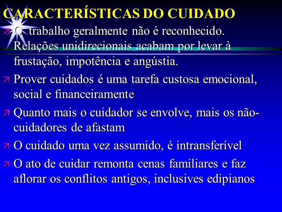 CARACTERÍSTICAS DO CUIDADO