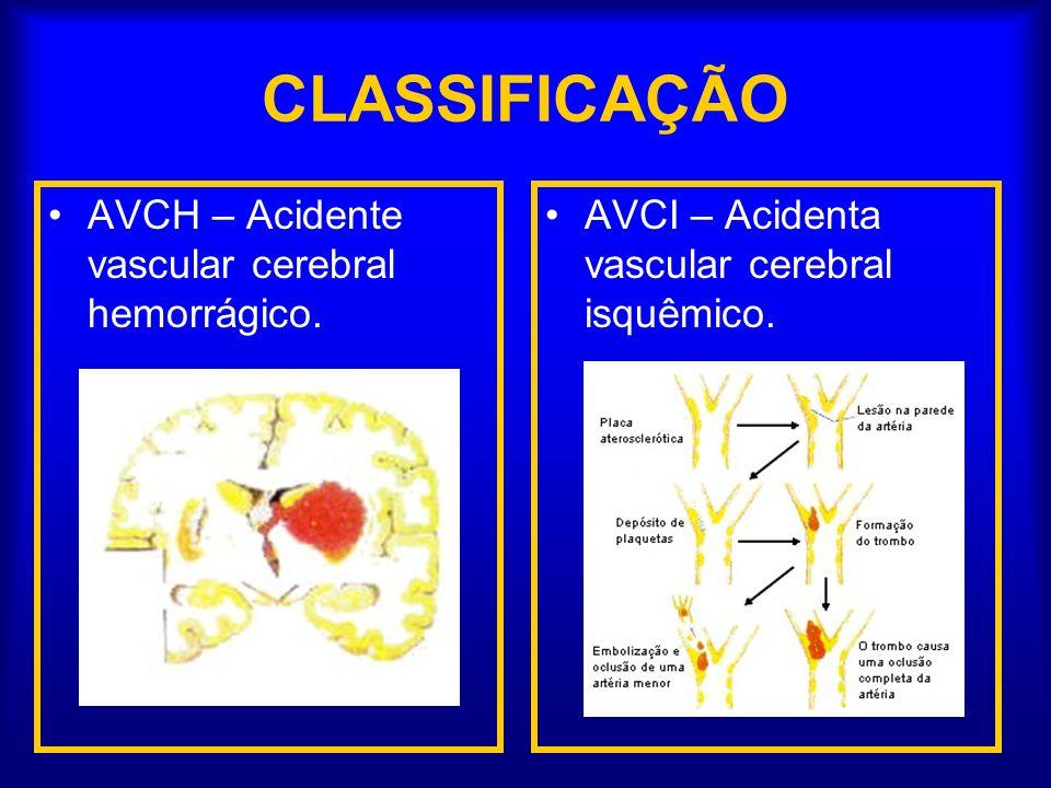 CLASSIFICAÇÃO AVCH – Acidente vascular cerebral hemorrágico.