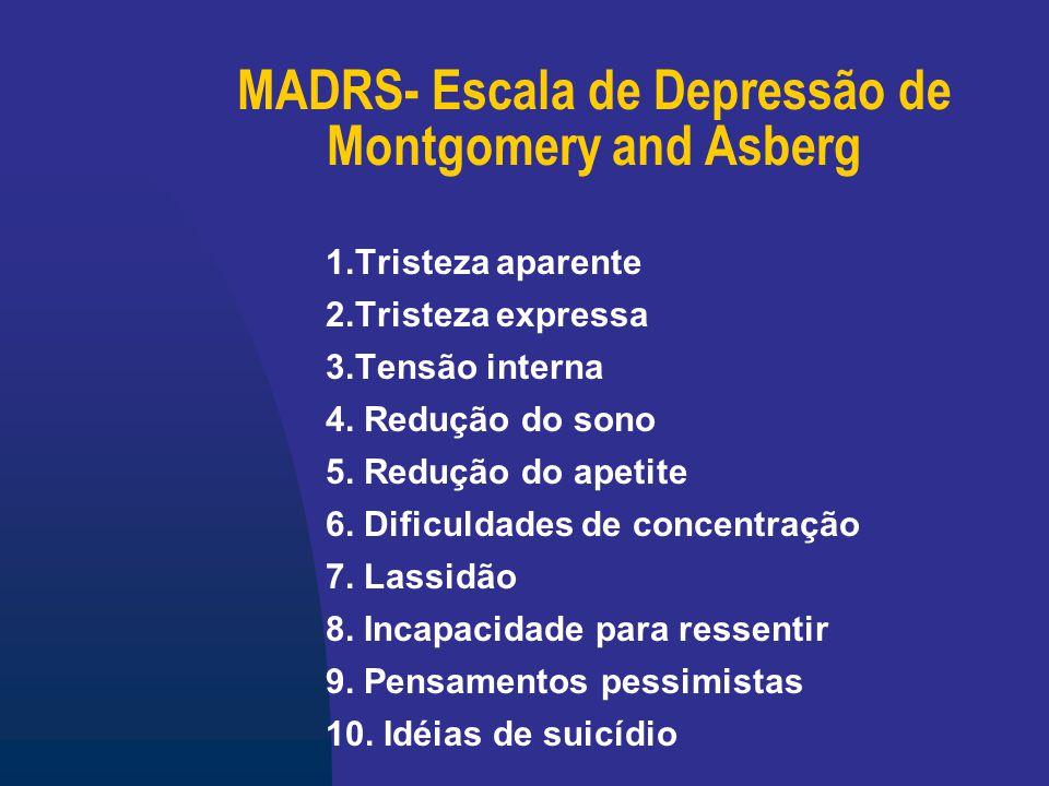 MADRS- Escala de Depressão de Montgomery and Asberg