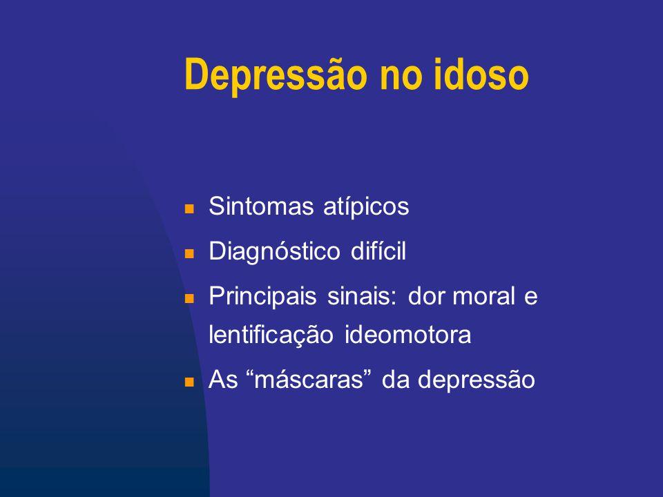 Depressão no idoso Sintomas atípicos Diagnóstico difícil