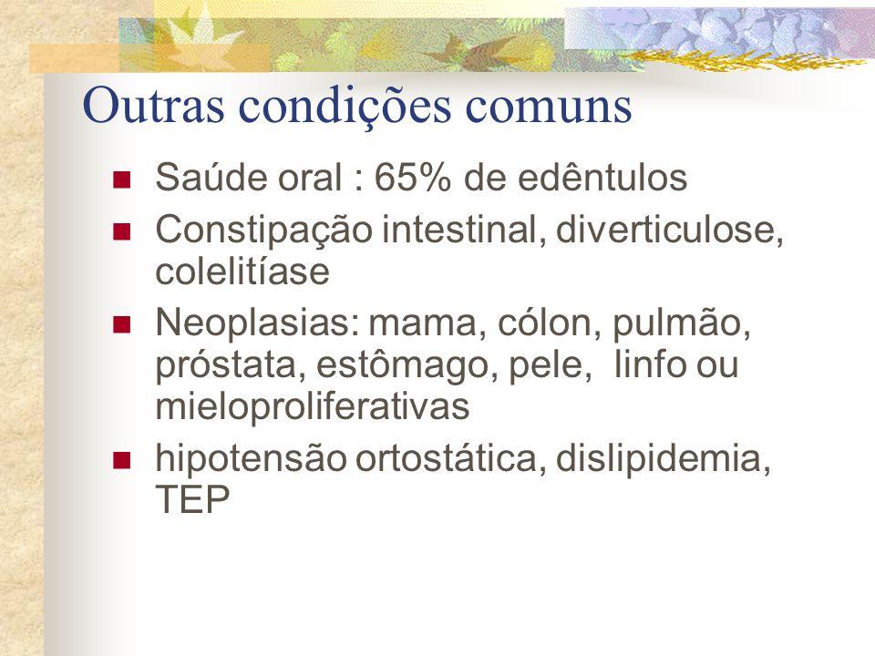 Outras condições comuns