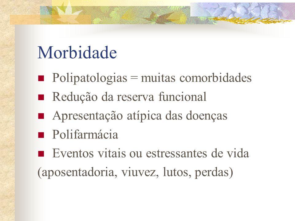 Morbidade Polipatologias = muitas comorbidades