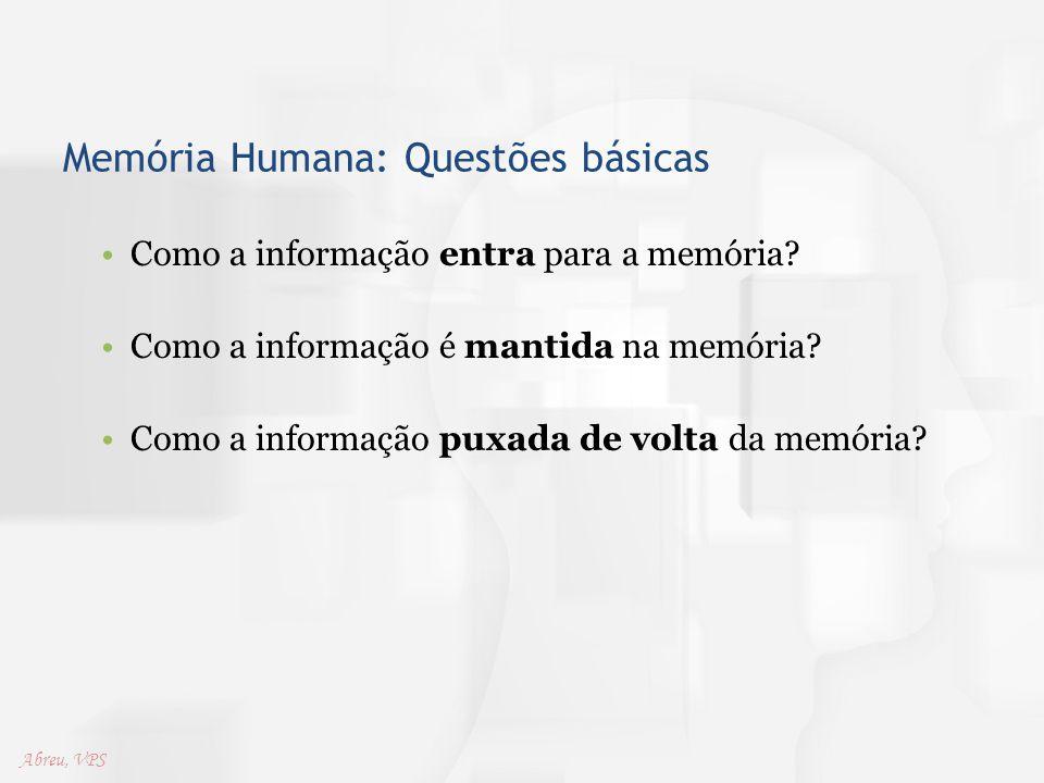 Memória Humana: Questões básicas