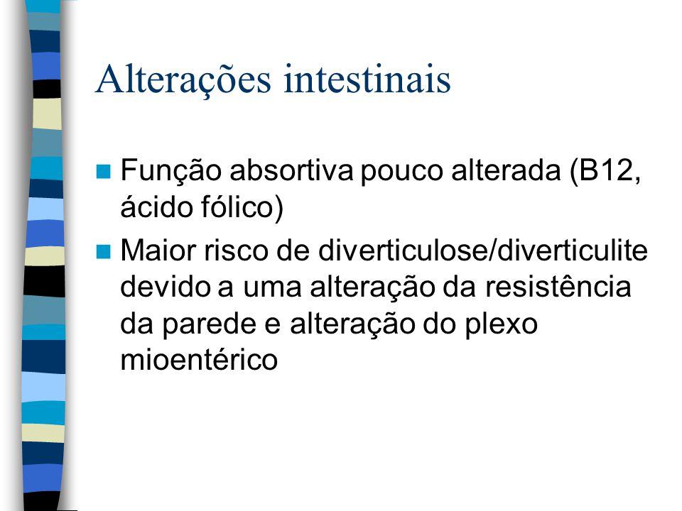 Alterações intestinais
