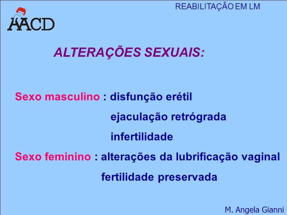 ALTERAÇÕES SEXUAIS: Sexo masculino : disfunção erétil