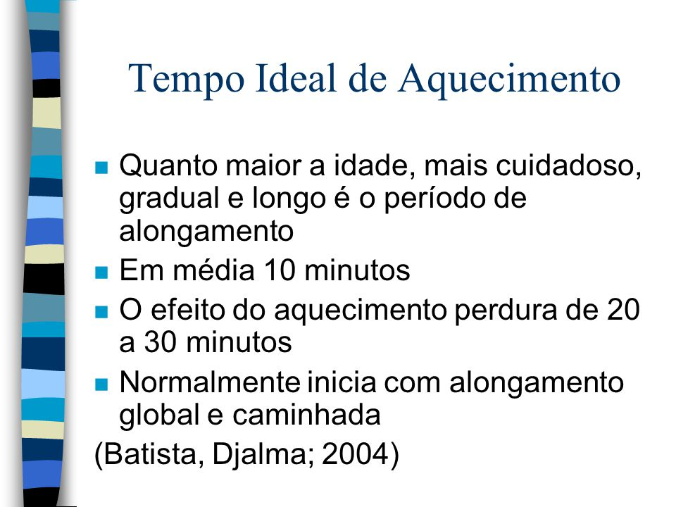 Tempo Ideal de Aquecimento