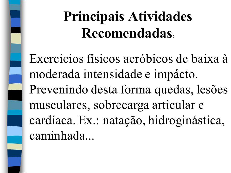 Principais Atividades Recomendadas: