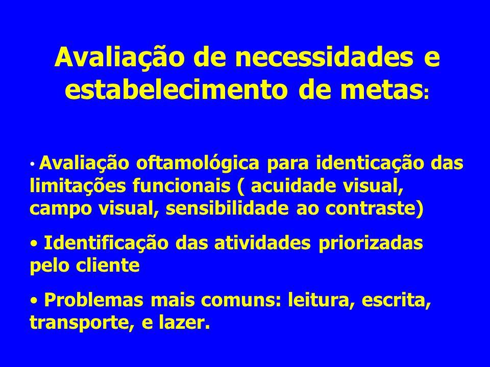 Avaliação de necessidades e estabelecimento de metas: