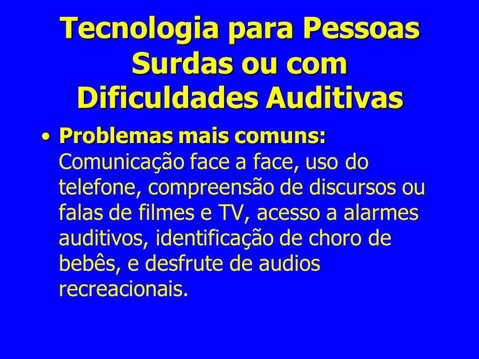 Tecnologia para Pessoas Surdas ou com Dificuldades Auditivas