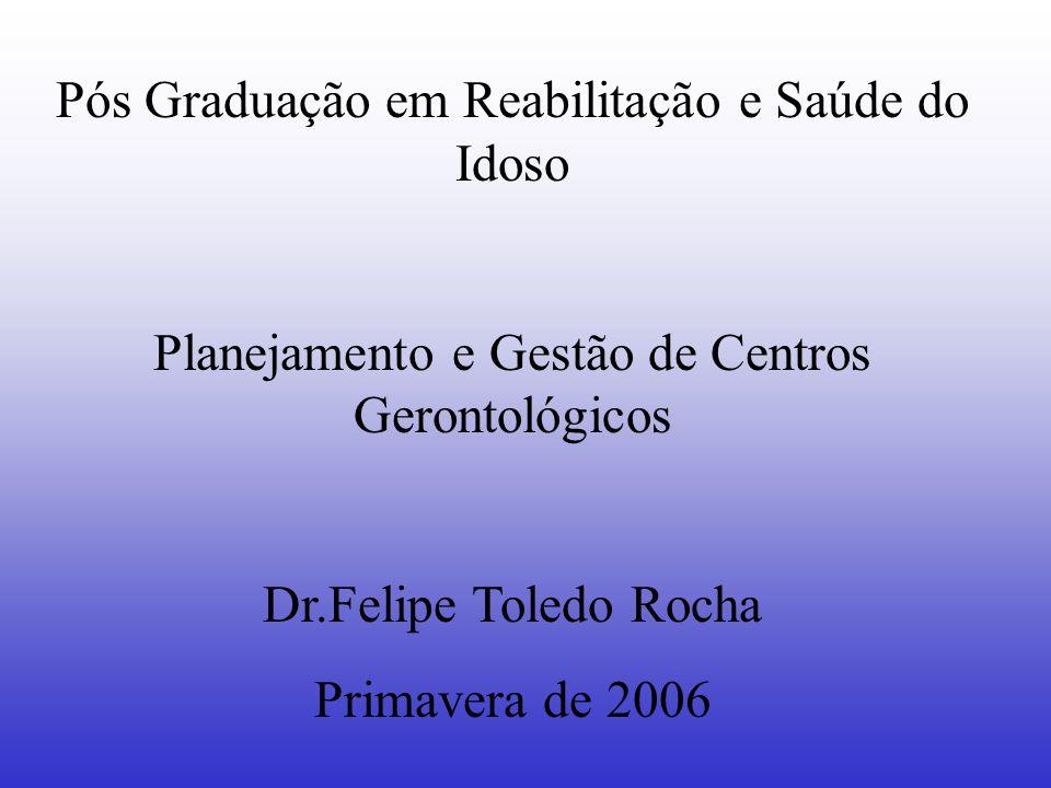 Pós Graduação em Reabilitação e Saúde do Idoso