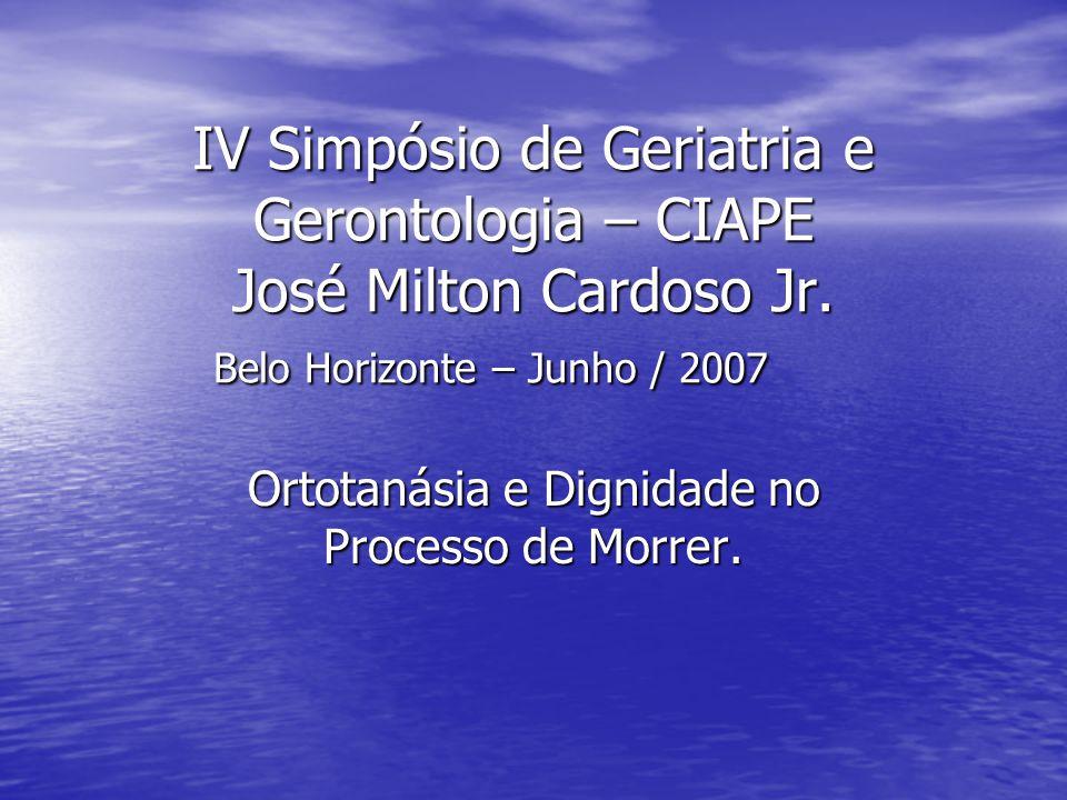 Ortotanásia e Dignidade no Processo de Morrer.