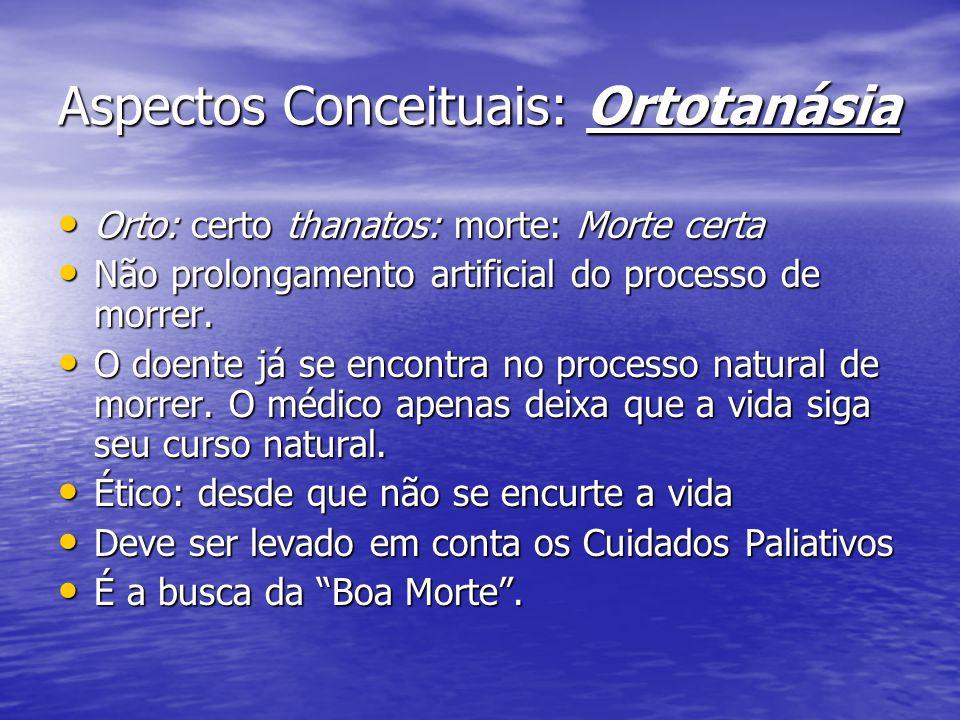 Aspectos Conceituais: Ortotanásia