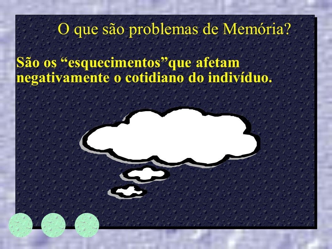 O que são problemas de Memória