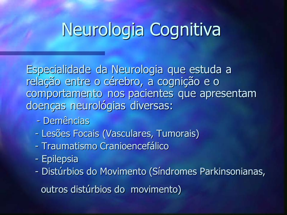 Neurologia Cognitiva