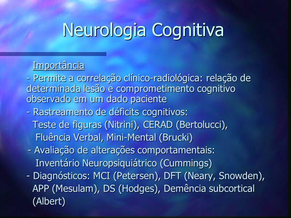 Neurologia Cognitiva Importância