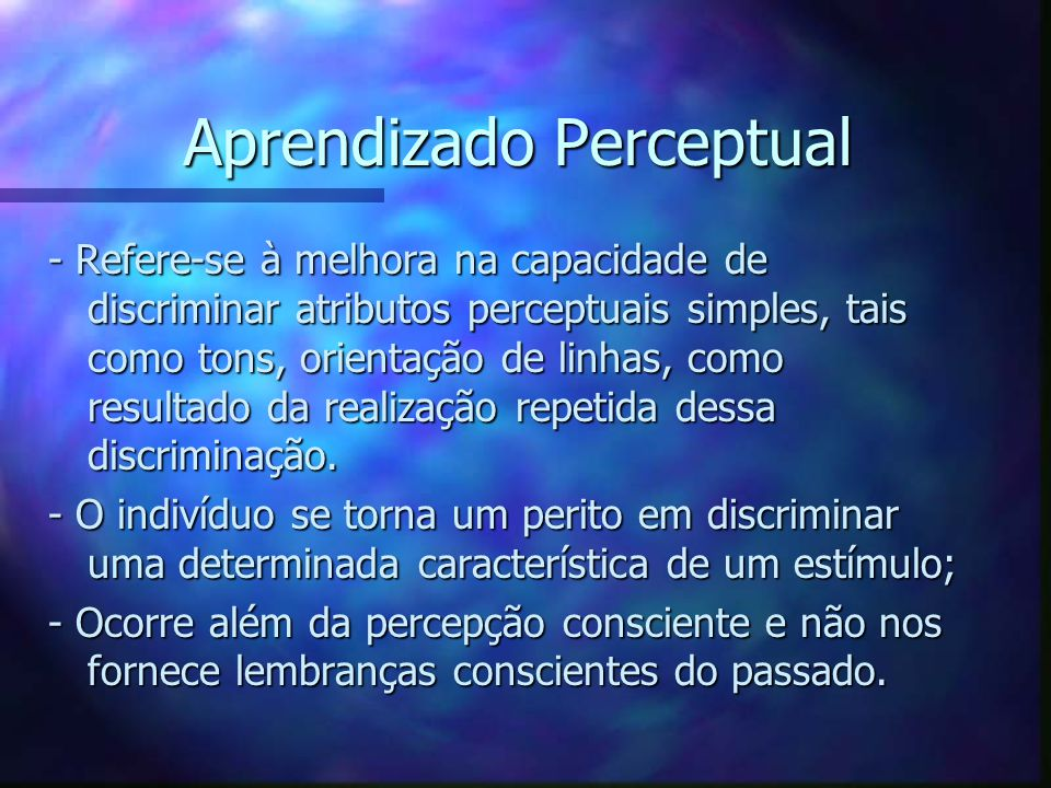 Aprendizado Perceptual