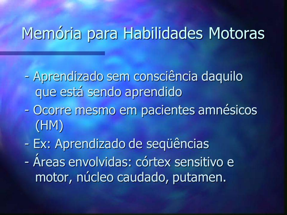 Memória para Habilidades Motoras