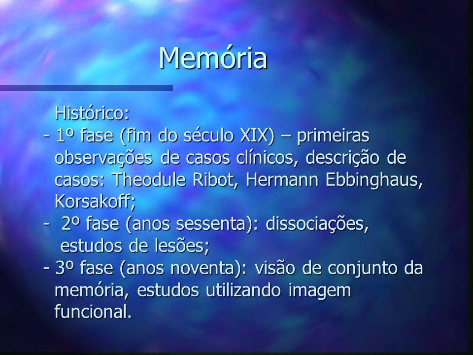 Memória Histórico: - 1º fase (fim do século XIX) – primeiras