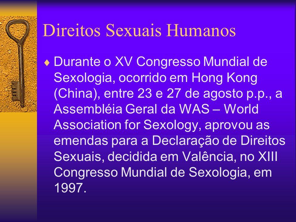 Direitos Sexuais Humanos