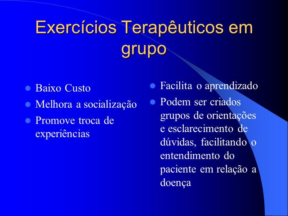 Exercícios Terapêuticos em grupo