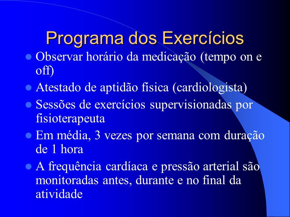 Programa dos Exercícios