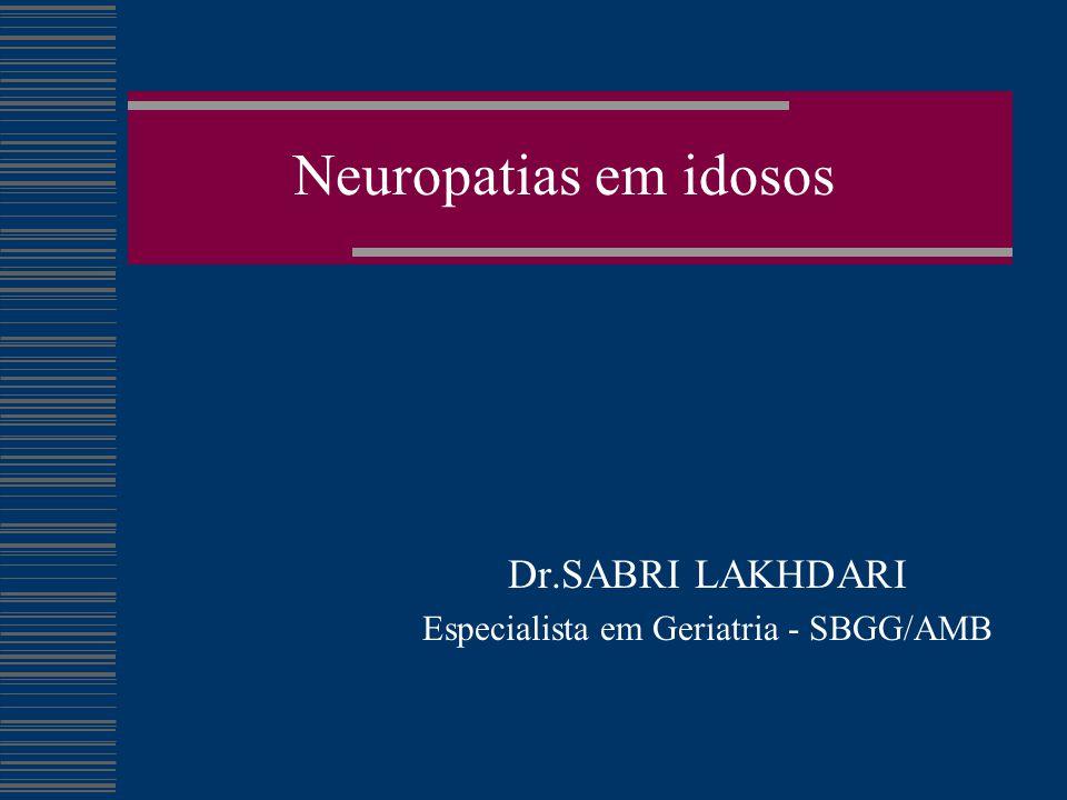 Dr.SABRI LAKHDARI Especialista em Geriatria - SBGG/AMB