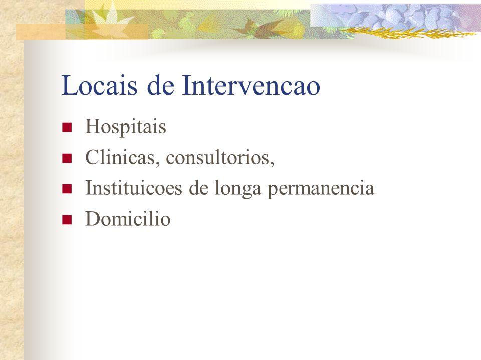Locais de Intervencao Hospitais Clinicas, consultorios,