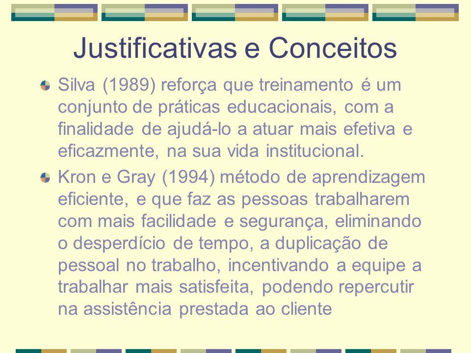 Justificativas e Conceitos