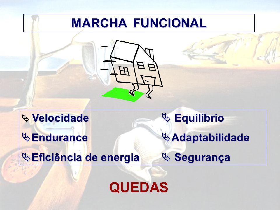 QUEDAS MARCHA FUNCIONAL Endurance Adaptabilidade
