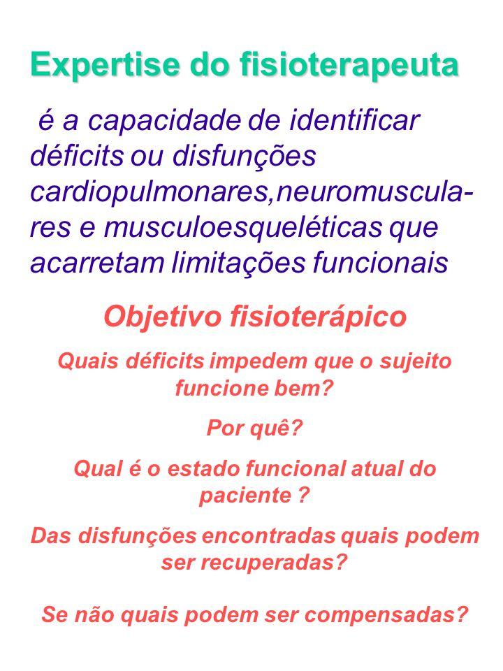 Expertise do fisioterapeuta