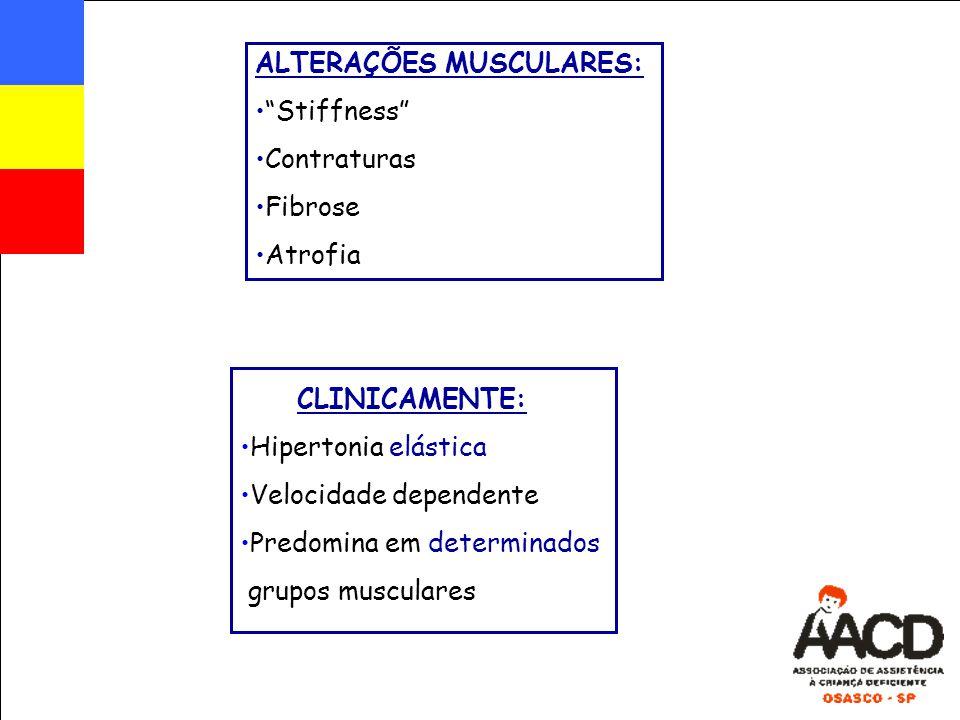 ALTERAÇÕES MUSCULARES: