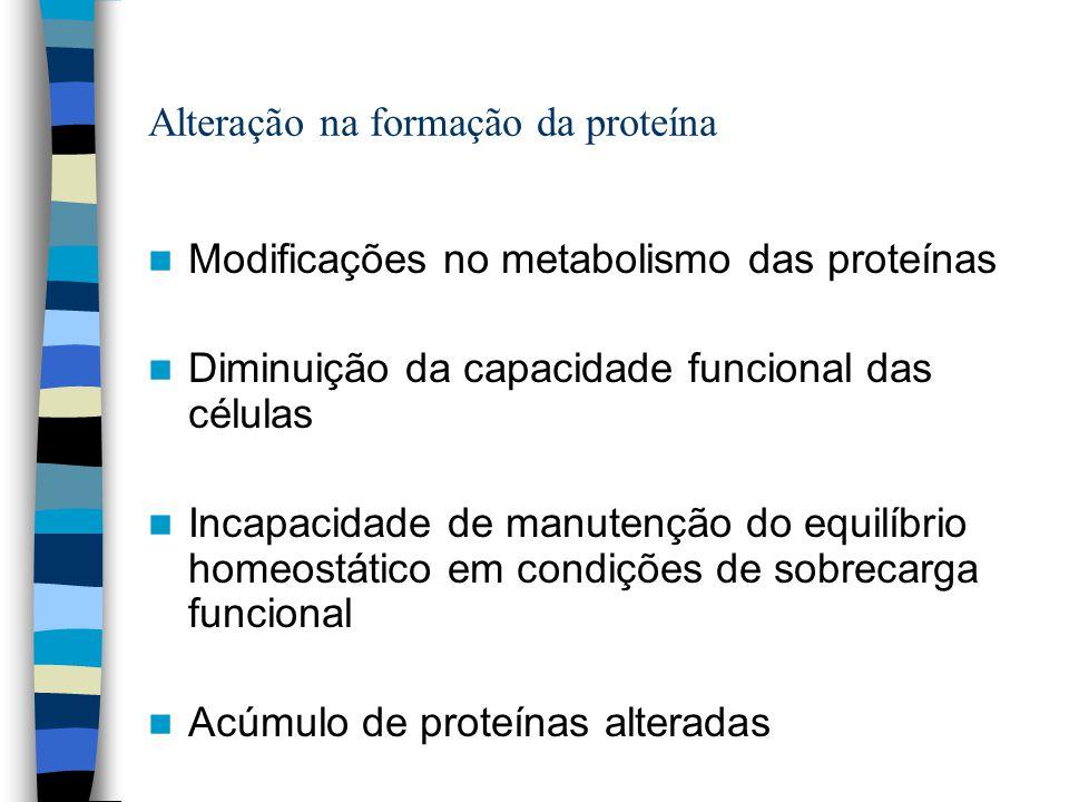 Alteração na formação da proteína