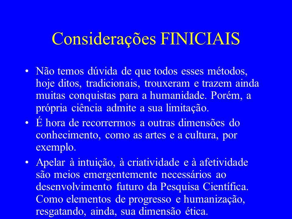 Considerações FINICIAIS