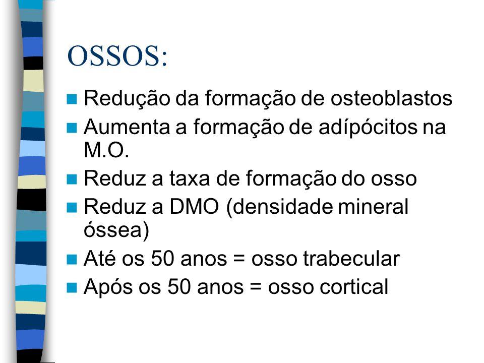 OSSOS: Redução da formação de osteoblastos