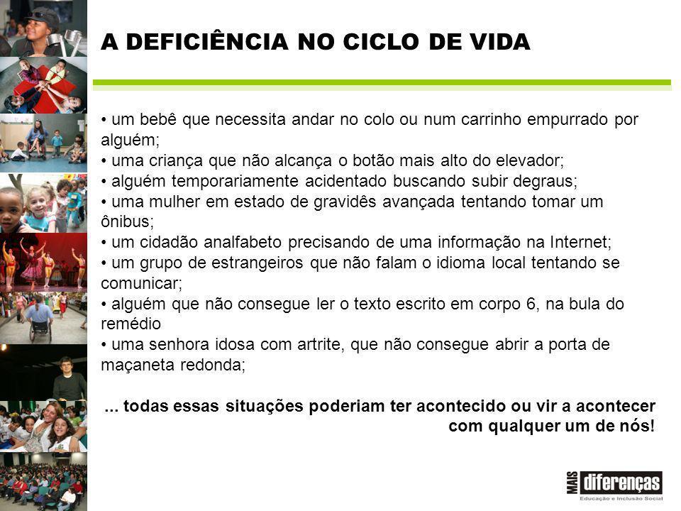 A DEFICIÊNCIA NO CICLO DE VIDA
