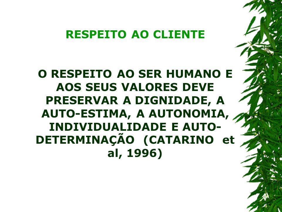 RESPEITO AO CLIENTE
