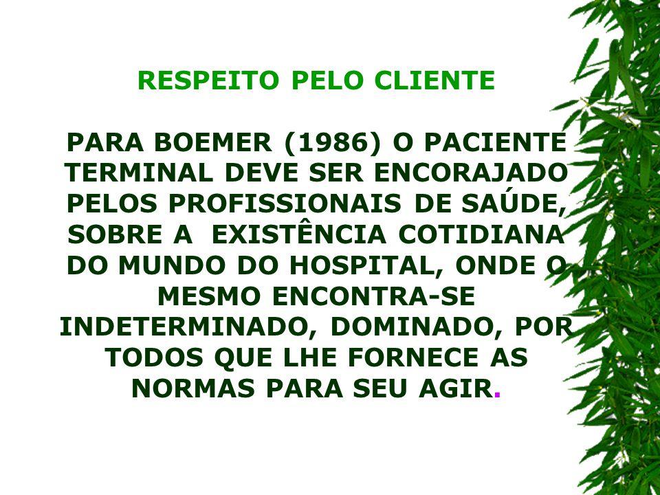 RESPEITO PELO CLIENTE