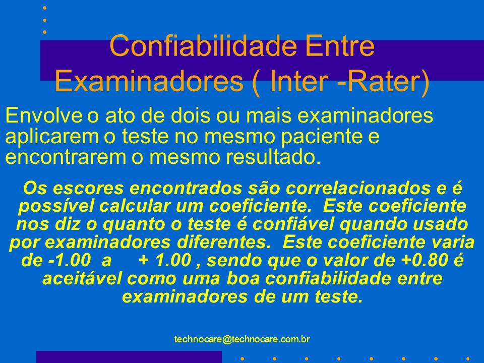Confiabilidade Entre Examinadores ( Inter -Rater)