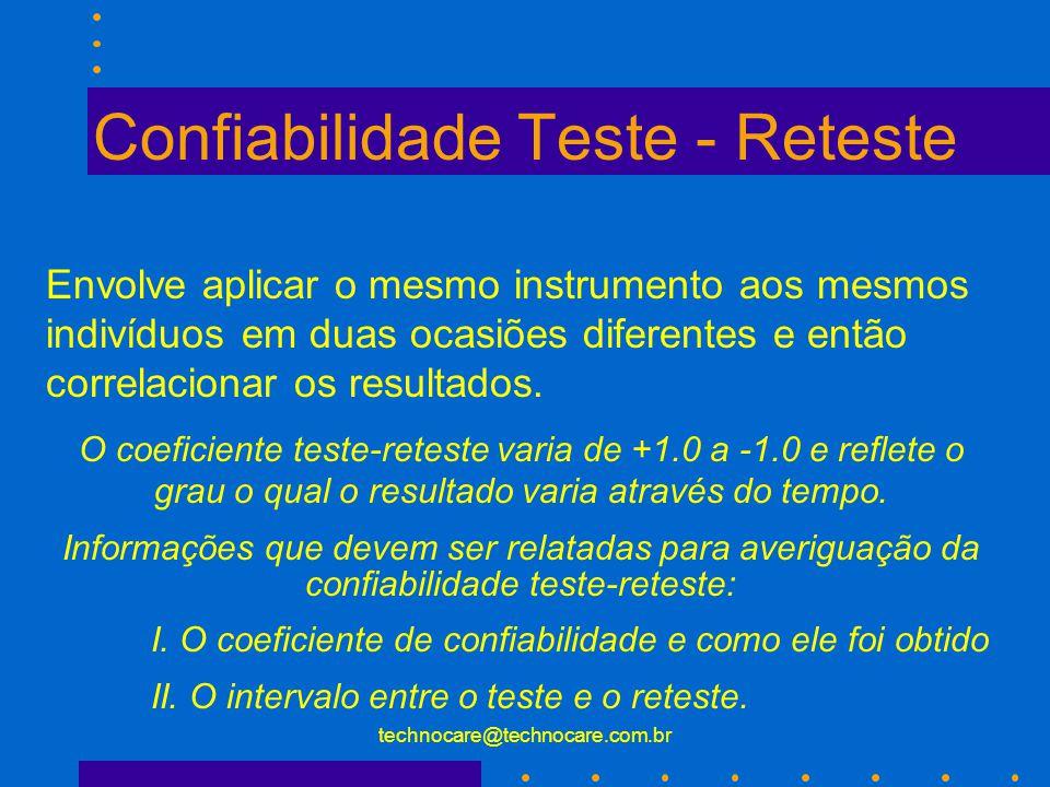 Confiabilidade Teste - Reteste