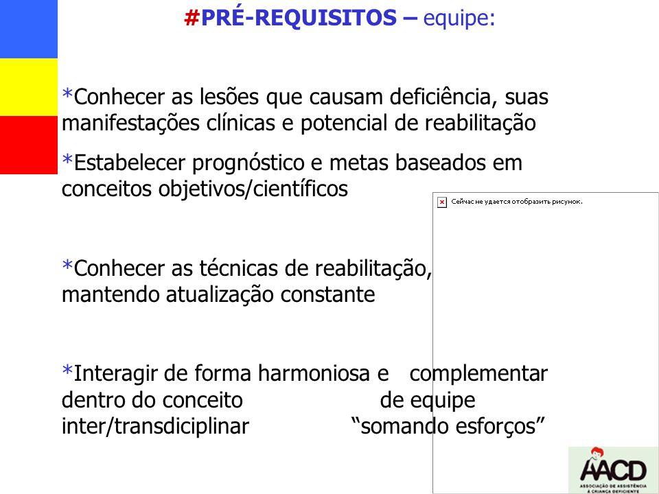 #PRÉ-REQUISITOS – equipe:
