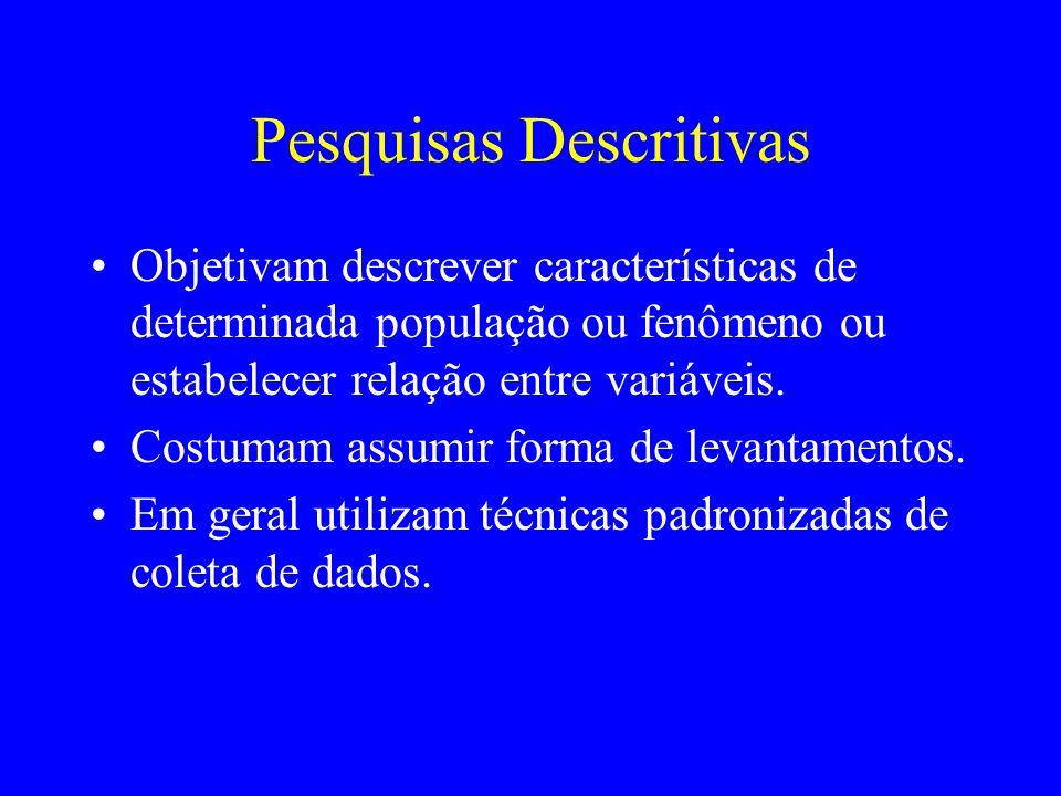Pesquisas Descritivas